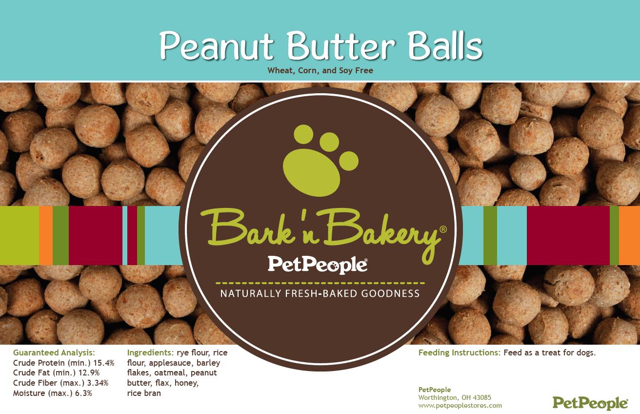 Bark 'n Bakery Peanut Butter Balls, 1 Pound