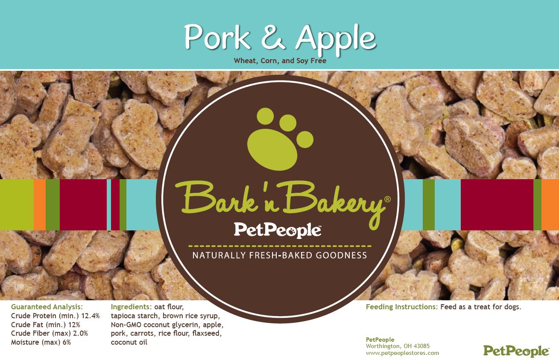 Bark 'n Bakery Pork & Apple, 1 Pound