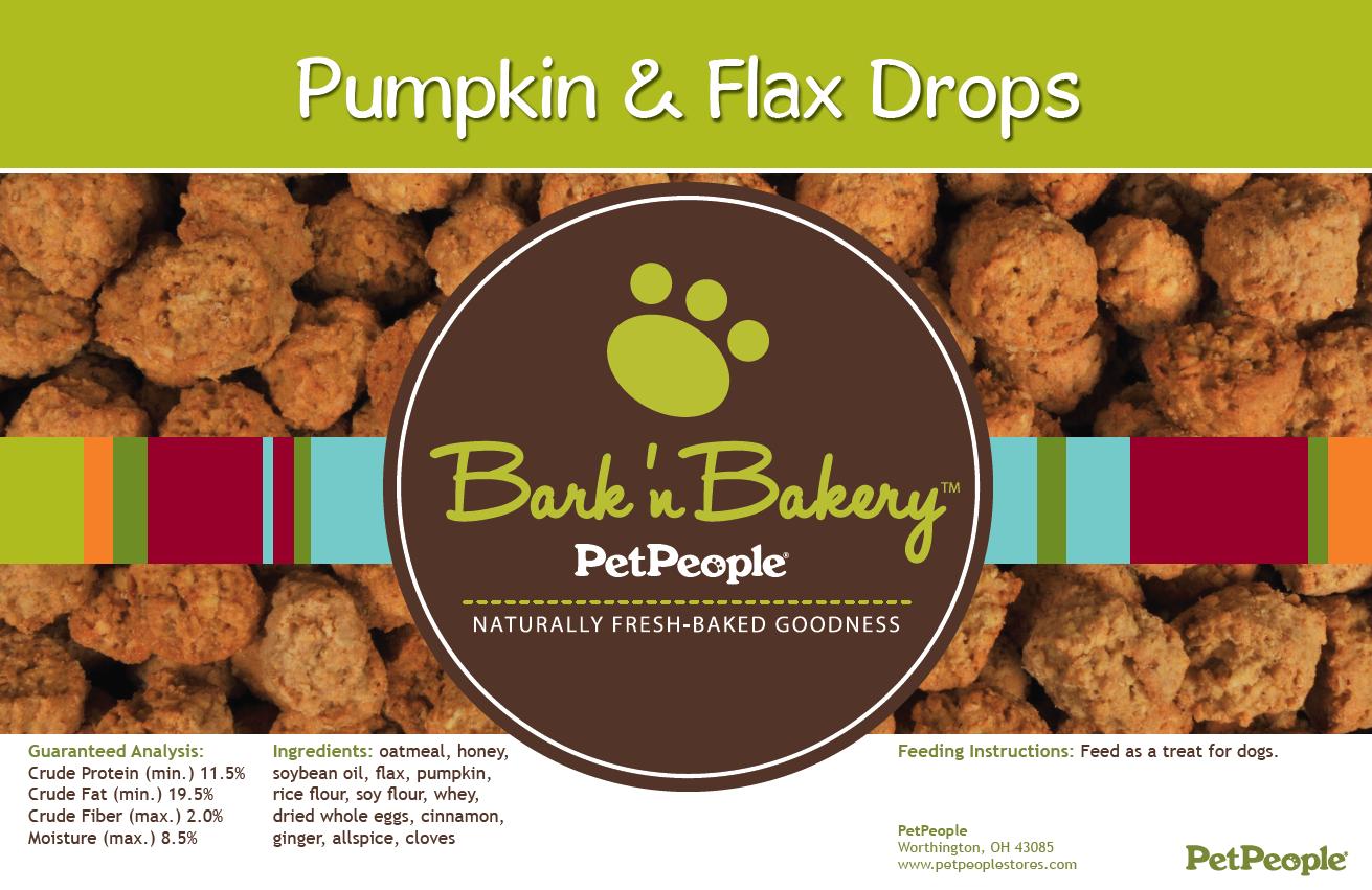 Bark 'n Bakery Pumpkin & Flax Drops, 1 Pound