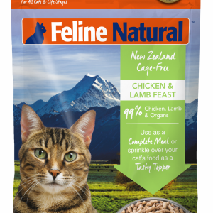Feline Natural Chicken & Lamb Feast Grain-Free Freeze-Dried Cat Food & Topper, 11-oz bag
