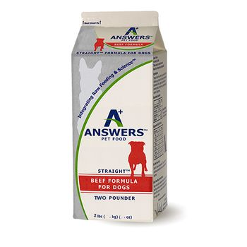 Answers Straight Beef Formula Raw Dog Food, 2-lb