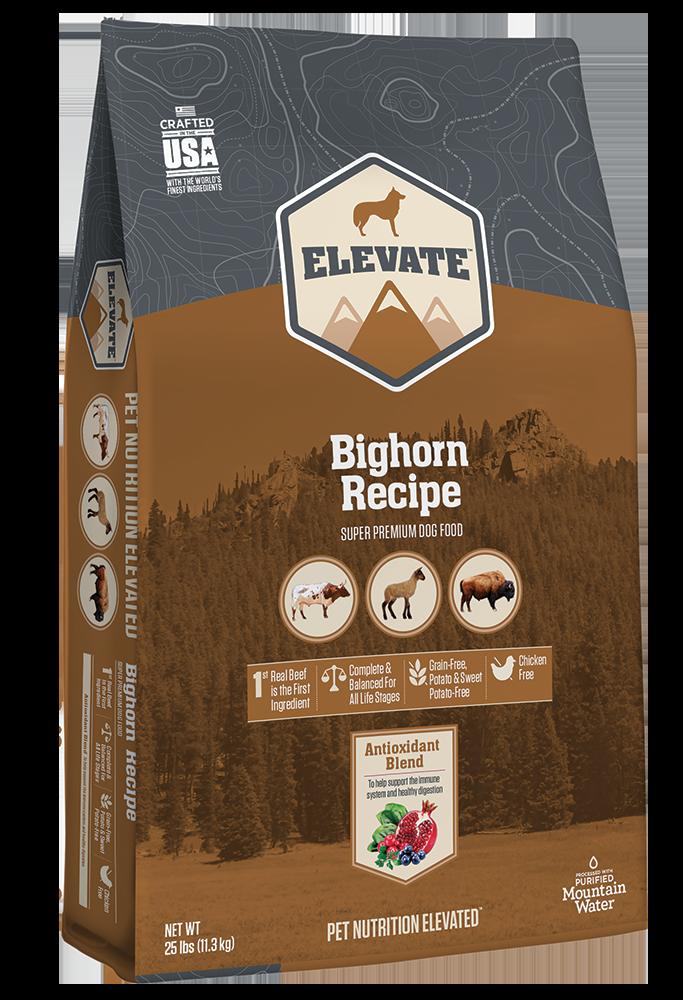 Elevate Bighorn Bovine Recipe Super Premium Grain-Free Dry Dog Food