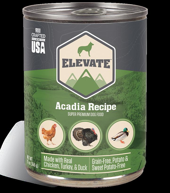 Elevate Acadia Fowl Recipe Super Premium Wet Dog Food