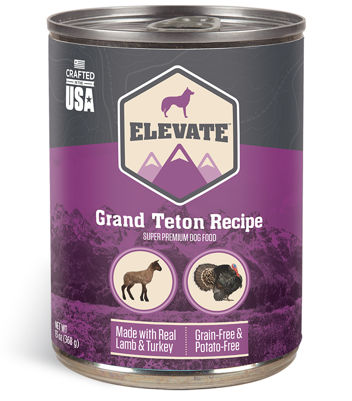 Elevate Grand Teton Lamb Recipe Super Premium Wet Dog Food