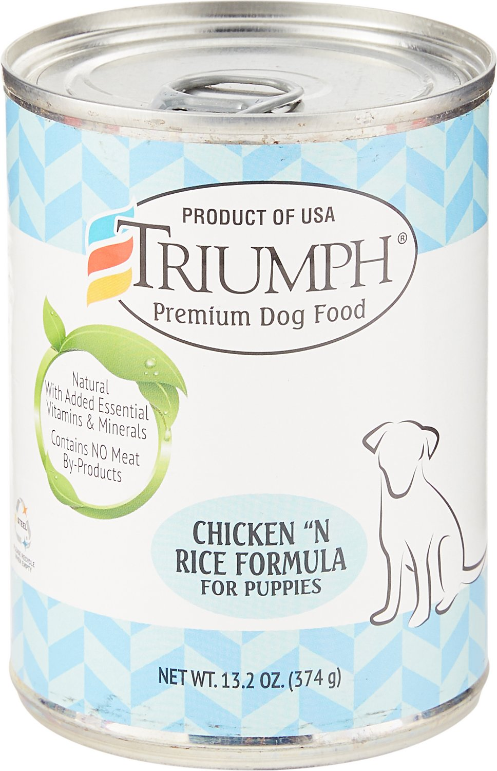 Triumph Chicken 'N Rice Formula for Puppies Canned Dog Food, 13.2-oz