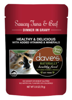 Dave's Cat Food Naturally Healthy Cat Pouch Tuna & Beef 2.8-oz