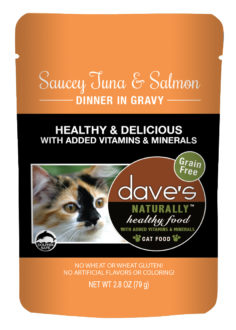 Dave's Cat Food Naturally Healthy Cat Pouch Tuna & Salmon 2.8-oz