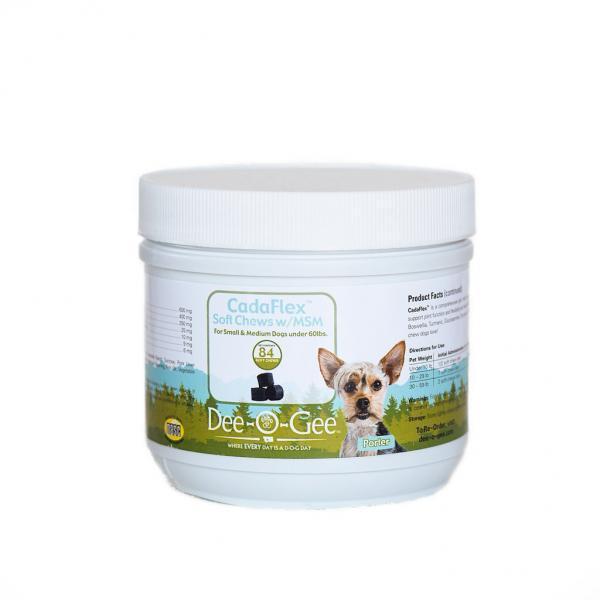 Dee-O-Gee CadaFlex EZ-Chews w/ MSM Dog Joint Support Supplement SM/MD 84 ct