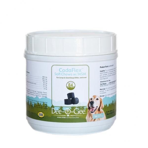 Dee-O-Gee CadaFlex EZ-Chews w/MSM Dog Joint Support Supplement LG 84 ct