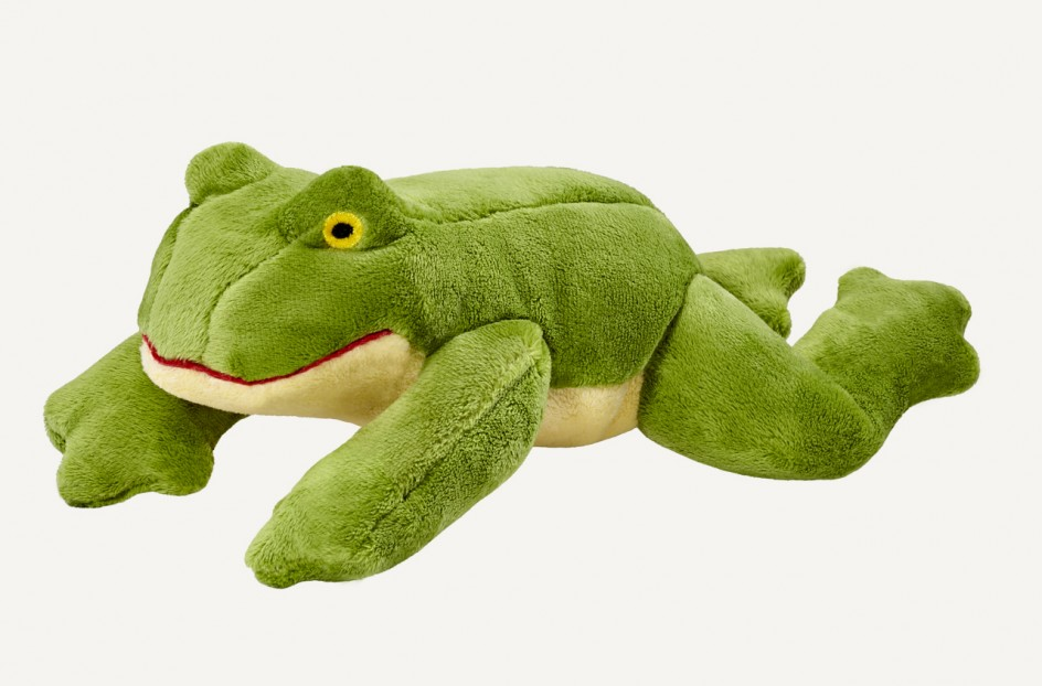 Fluff & Tuff Olive Frog Dog Toy, Small
