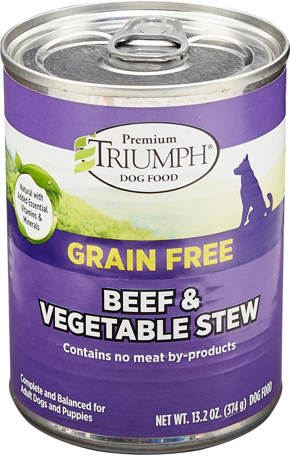 Triumph Grain-Free Beef & Vegetable Stew Canned Dog Food, 13.2-oz