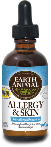 Earth Animal Allergy & Skin Supplement, 2-oz