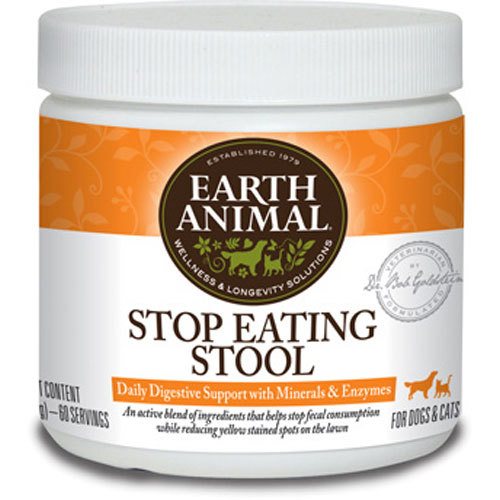 Earth Animal Stop Eating Stool Supplement, 8-oz