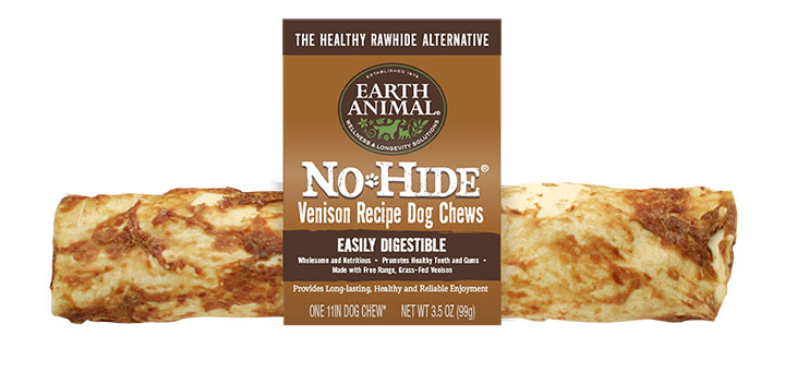 Earth Animal No-Hide Venison Chew Dog Treat, 4-in