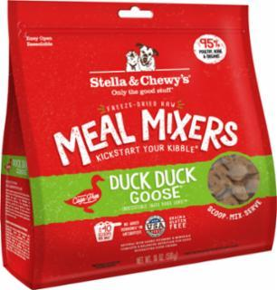 Stella & Chewy's Duck Duck Goose Meal Mixers Freeze-Dried Raw Dog Food, 18-oz