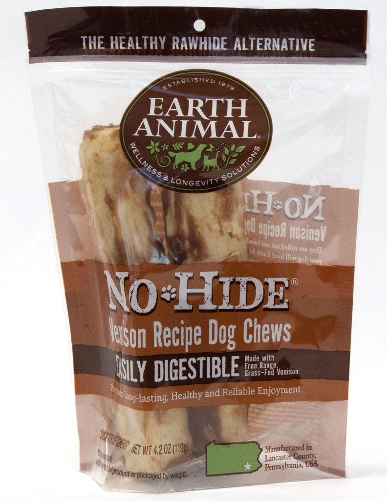 Earth Animal No-Hide Venison Chew Dog Treat, 7-in, 2-pk