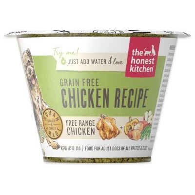 Honest Kitchen Grain Free Chicken Recipe Dehydrated Dog Food Cup, 1.75-oz