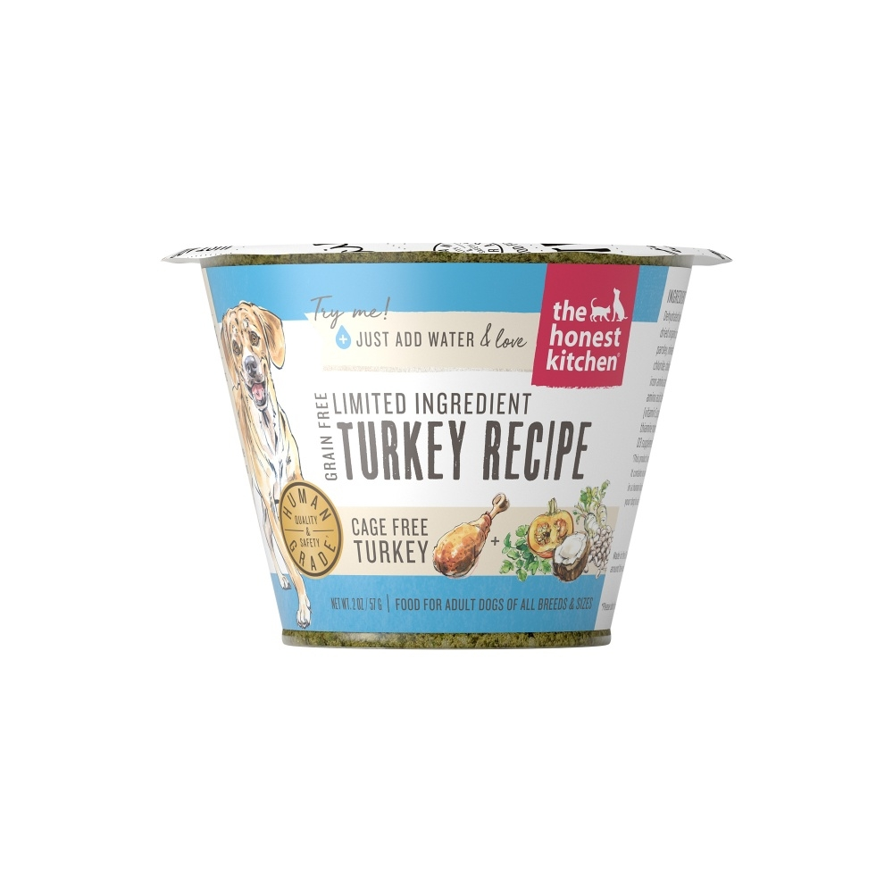 Honest Kitchen Grain Free Turkey Recipe Dehydrated Dog Food Cup, 1.75-oz