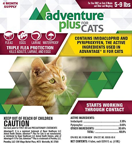 Adventure Plus Flea Treatment For Cats 4-Pack