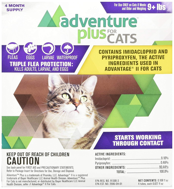 Adventure Plus Flea Treatment For Cats 4-Pack Size: Over 9 lb Cat