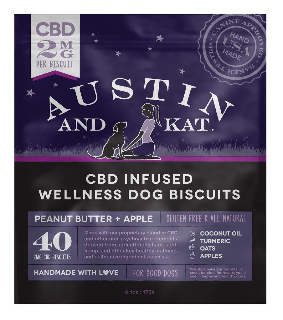 Austin & Kat 2mg Biscuit Peanut Butter & Apple Dog Treat
