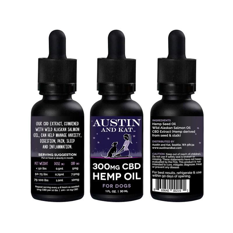 Austin & Kat 300mg Oil for Dogs & Cats 1z
