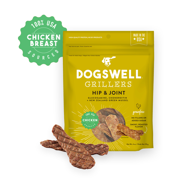 Dogswell Grillers Grain-Free Hip & Joint Chicken Treat