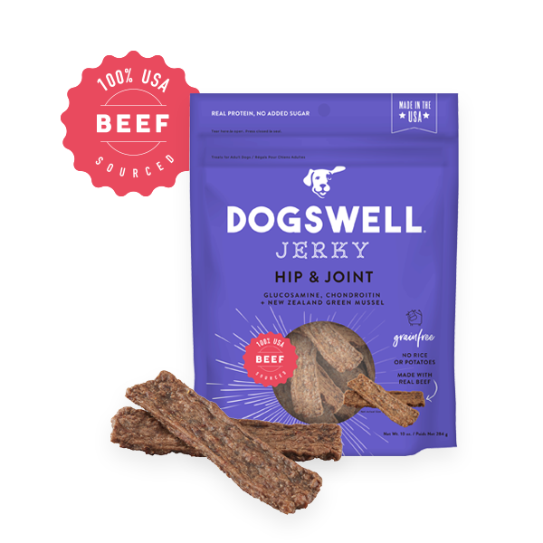 Dogswell Jerky Grain-Free Hip & Joint Beef Treat