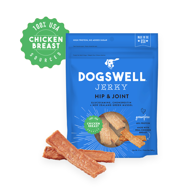 Dogswell Jerky Grain-Free Hip & Joint Chicken Treat