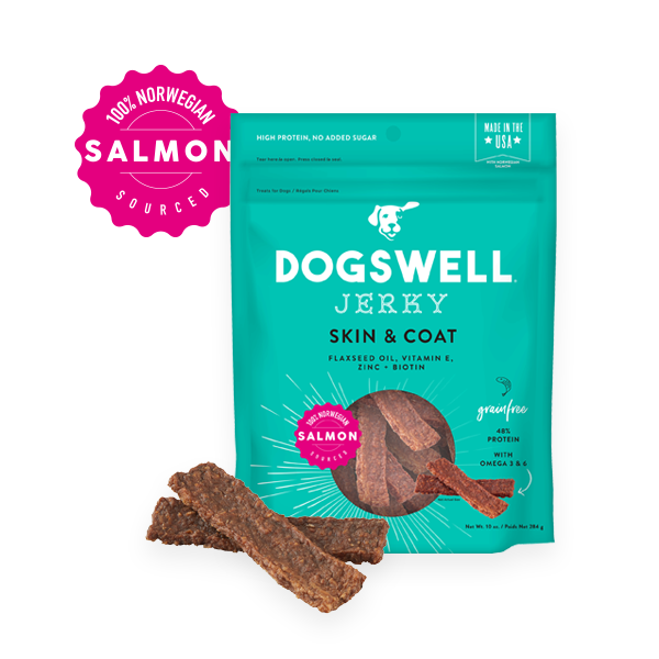 Dogswell Skin & Coat Grain-Free Salmon Jerky Treat