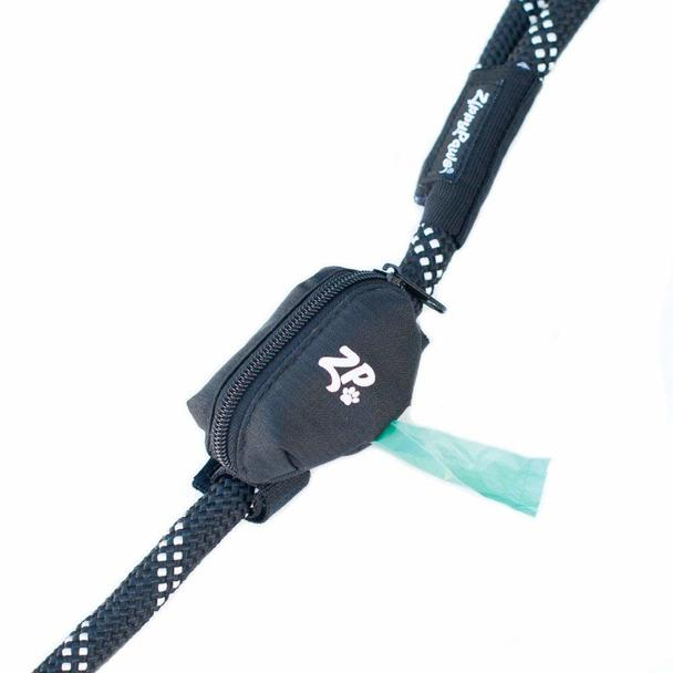 ZippyPaws Leash Attachment Poop Bag Dispenser, Volcano Black