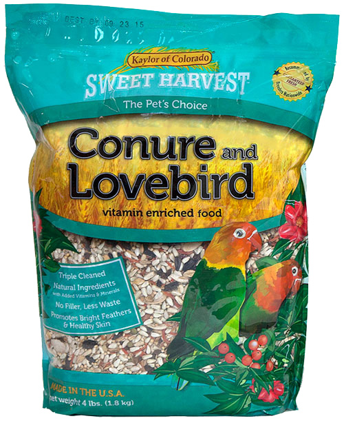 Kaylor Sweet Harvest Enriched Conure & Lovebird Bird Food