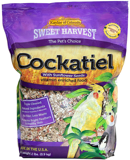 Kaylor Sweet Harvest Enriched Cockatiel w/ Sunflower Seeds Food, 2-lb