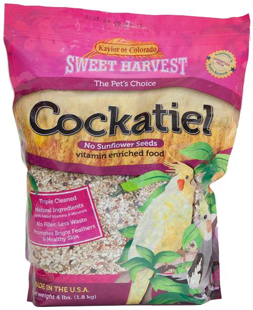 Kaylor Sweet Harvest Enriched Cockatiel w/o Sunflower Seeds Food, 2-lb