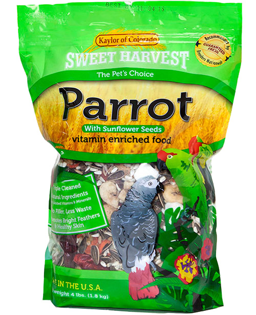 Kaylor Sweet Harvest Enriched Parrot w/ Sunflower Seeds Food, 20-lb