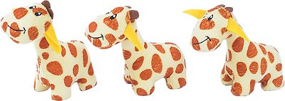 ZippyPaws Burrow Squeaky Hide and Seek Plush Dog Toy, Giraffe Lodge, Refills
