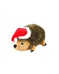 Outward Hound Holiday Hedgehogz with Santa Hat Dog Toy, Large