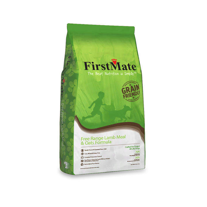 FirstMate Free Range Lamb and Oats Grain Friendly Dog Food