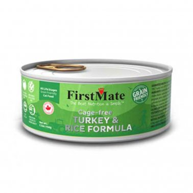FirstMate Grain Friendly Cage Free Turkey & Rice Cat Wet Food