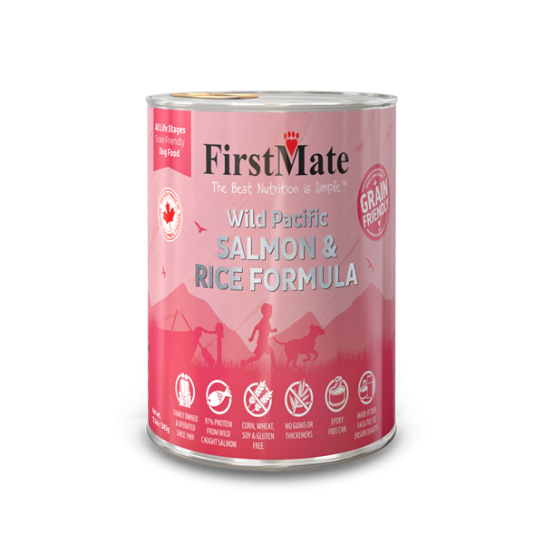 FirstMate Grain Friendly Wild Salmon & Rice Dog Wet Food