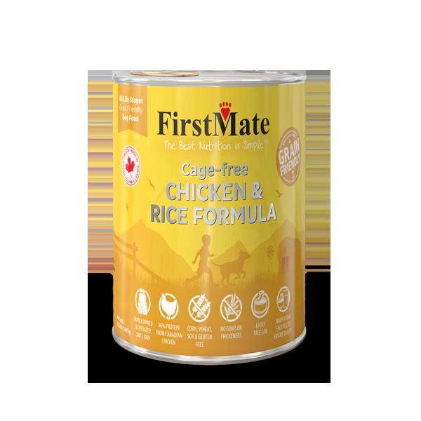 FirstMate Grain Friendly Chicken & Rice Dog Wet Food