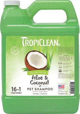 TropiClean Deodorizing Aloe & Coconut Dog & Cat Shampoo, 1-gal bottle