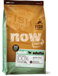 Petcurean Dog Now Fresh Grain-Free Small Breed Adult Fish Recipe Dry Dog Food, 12-lbs