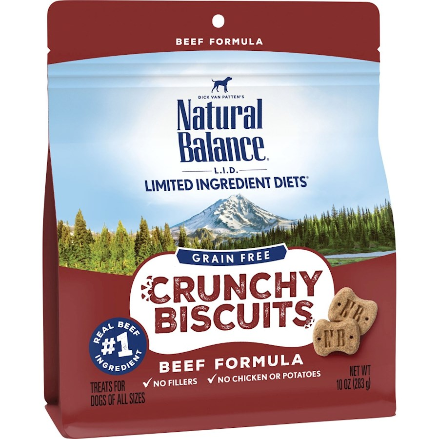 Natural Balance L.I.D. Crunchy Biscuits Beef Formula Dog Treats