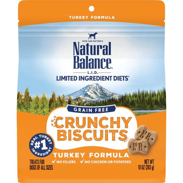 Natural Balance L.I.D. Crunchy Biscuits Turkey Formula Dog Treats