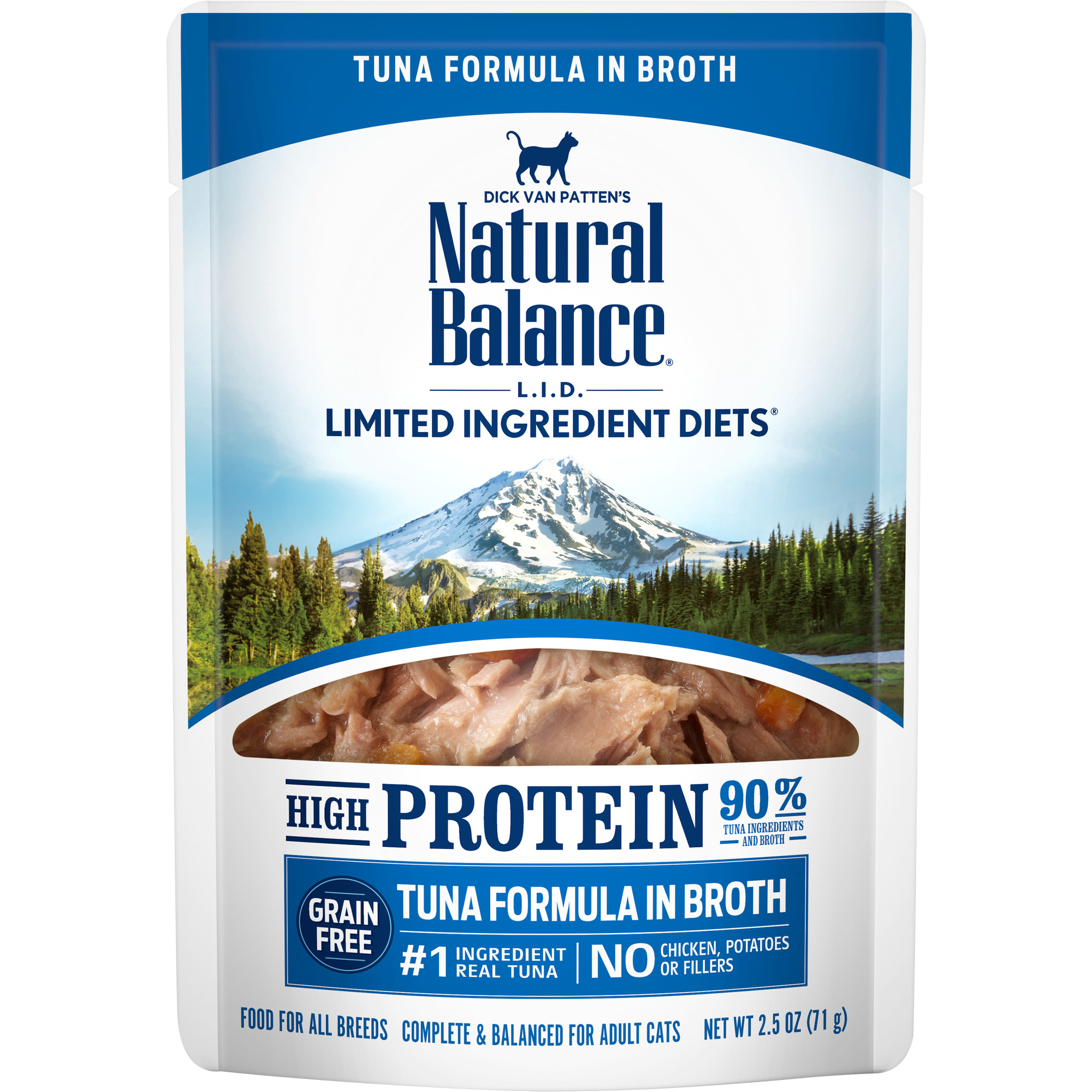 Natural Balance L.I.D. High Protein Tuna Formula in Broth Wet Cat Food, 2.5-oz