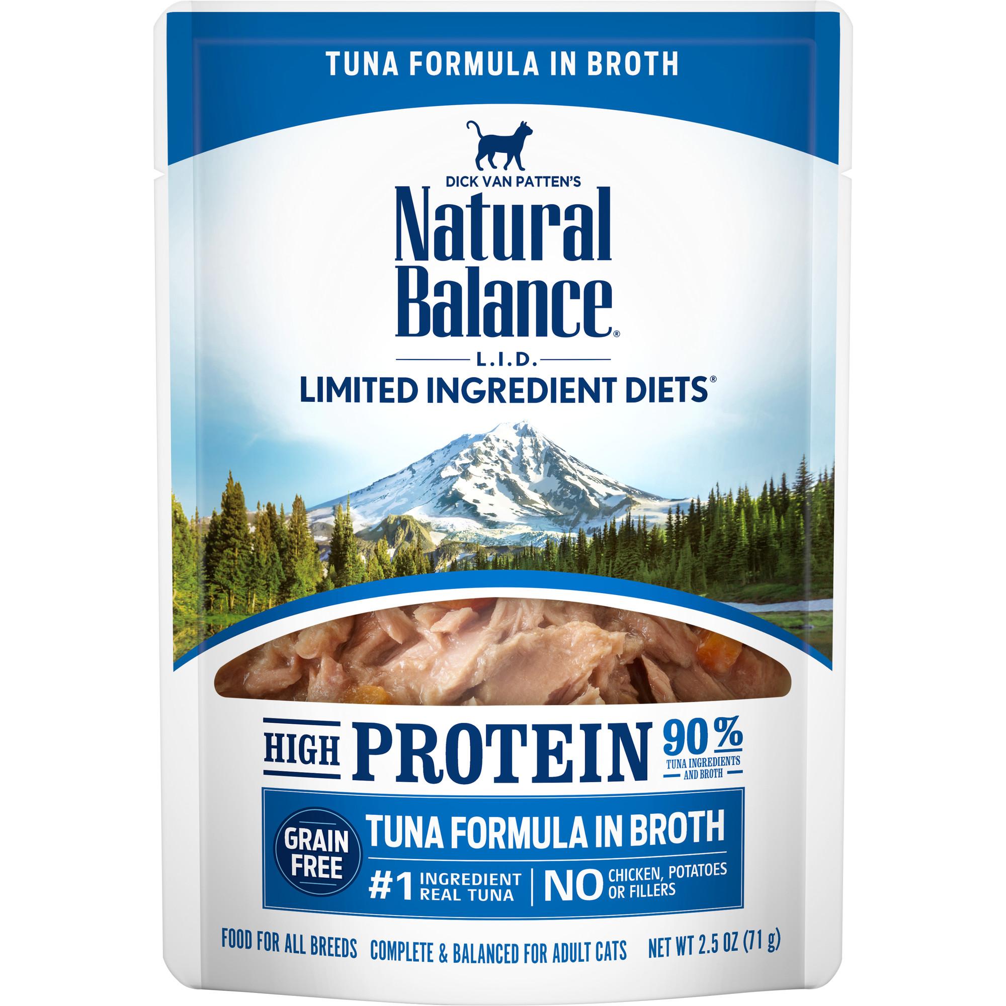 Natural Balance L.I.D. High Protein Tuna Formula in Broth Wet Cat Food, 2.5-oz