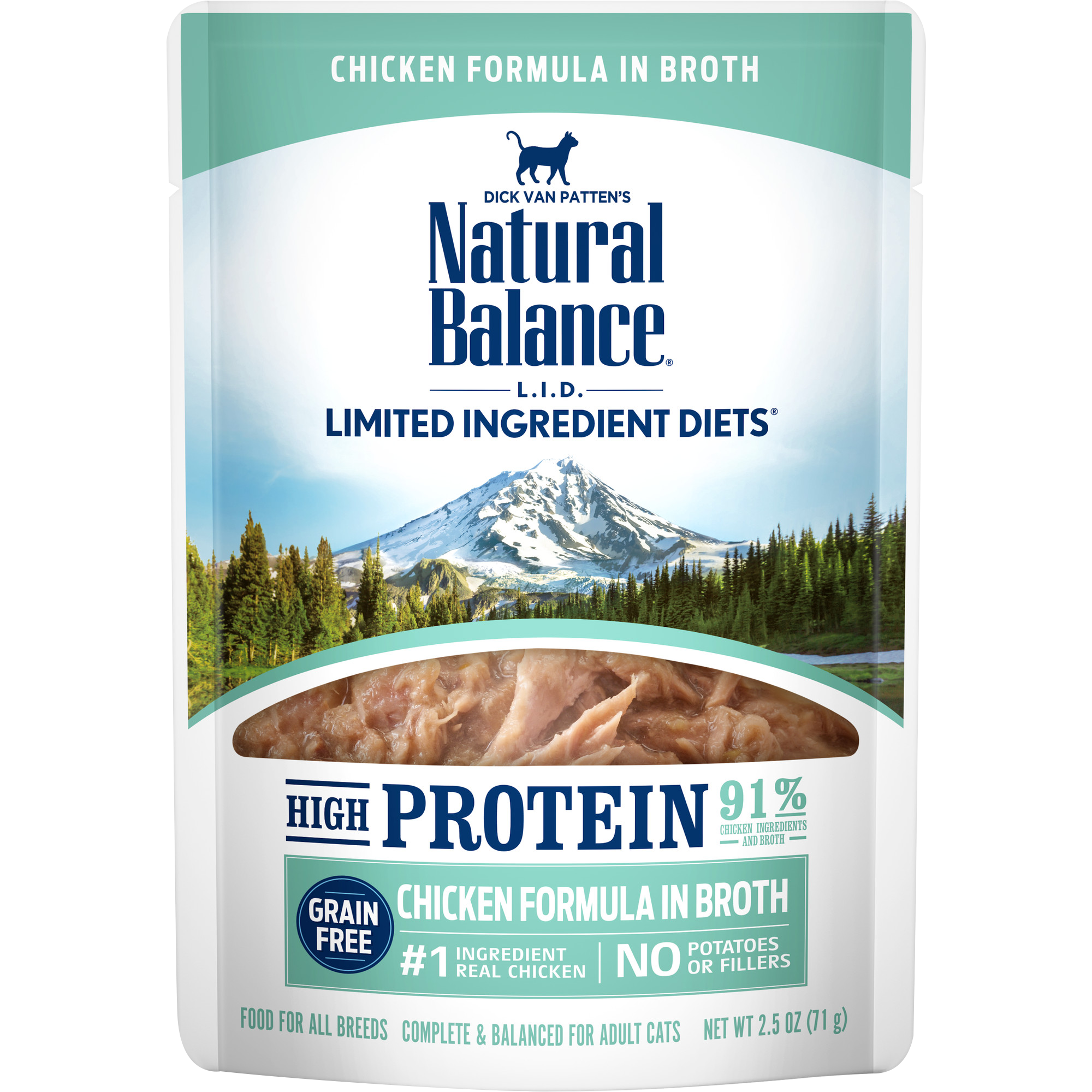 Natural Balance L.I.D. High Protein Chicken Formula in Broth Wet Cat Food, 2.5-oz