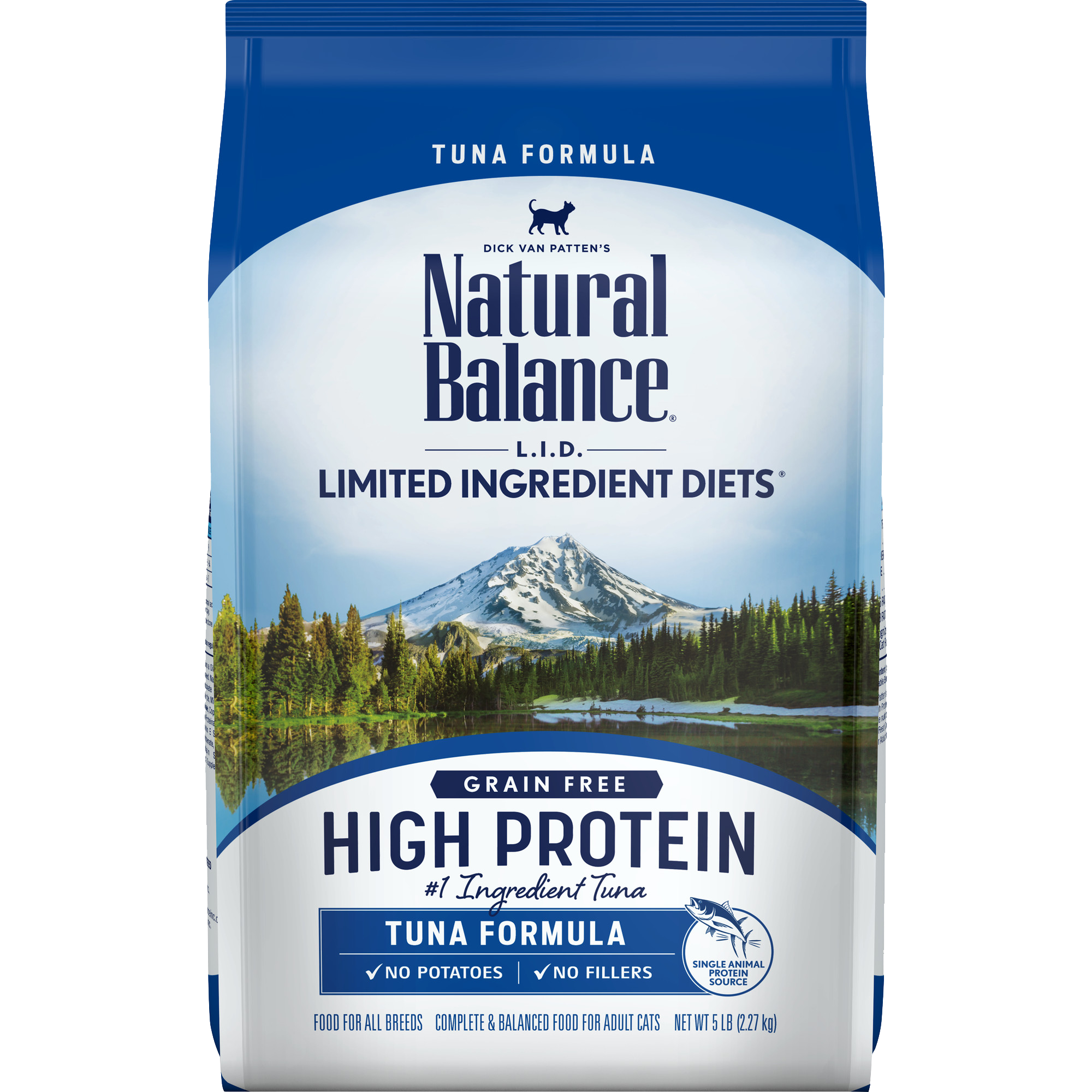 Natural Balance L.I.D. High Protein Tuna Formula Cat Dry Food, 5-lb