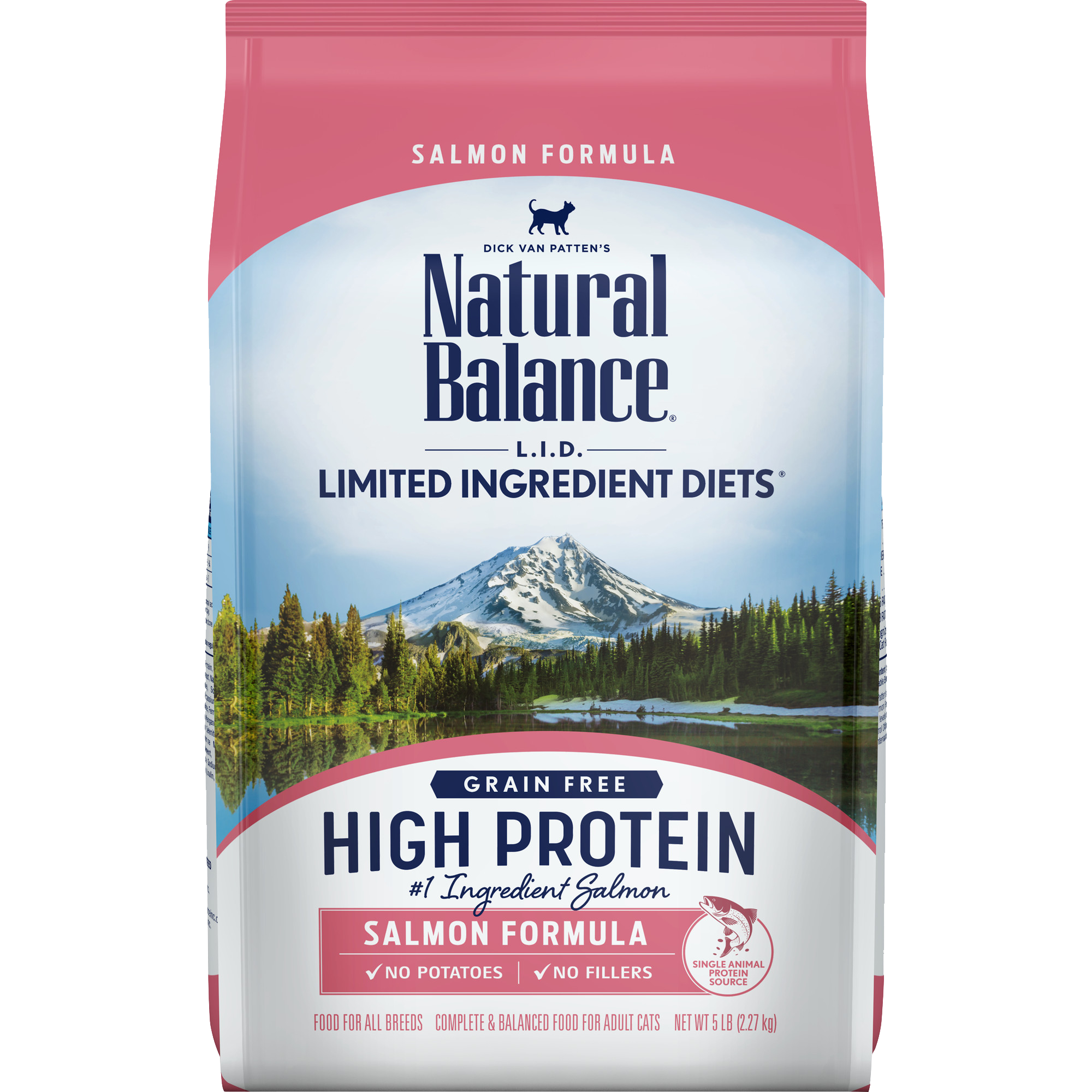 Natural Balance L.I.D. High Protein Salmon Formula Cat Dry Food, 5-lb